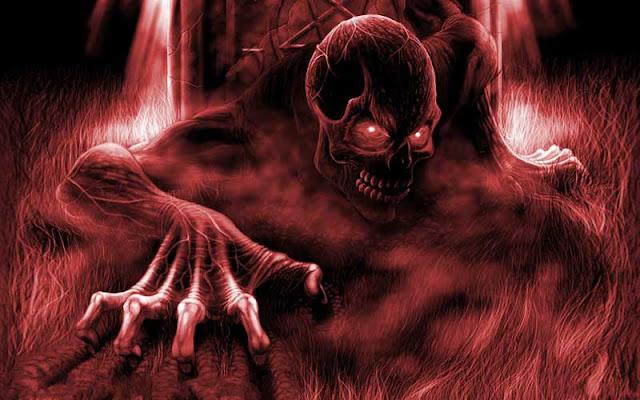 iblis tengkorak penghuni neraka