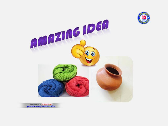 Here is pom pom craft,woolen craft idea,how to decorated pot using woolen,yarn craft idea,crochet craft wall hanging,woolen room decor ideas,best out of waste using woolen,kids crafts with woolen,pom pom wall hanging ideas,how to make pot decorated with woolen