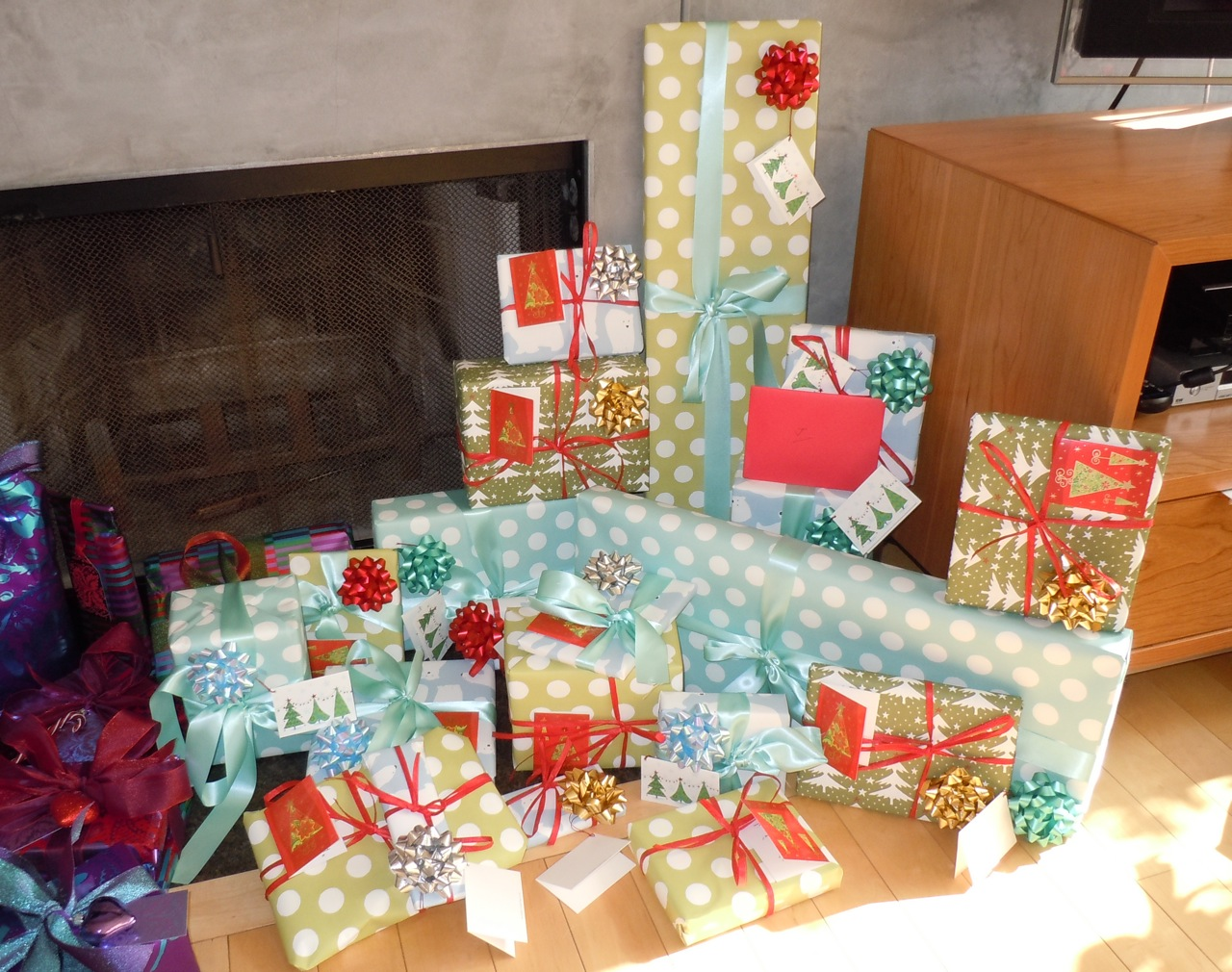 Gift wrapped presents of christmases past jason in hollywood wrapped christmas gifts 2010 negle Images