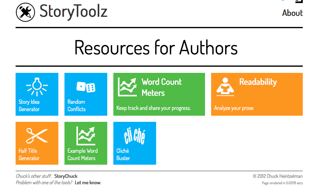 Group Blog: Story Toolz: Resources for Authors