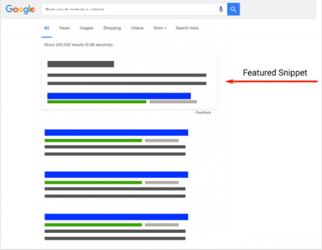 Google Search मे Featured snippets क्या है
