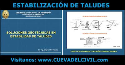 Estabilidad de taludes soluciones geotecnicas