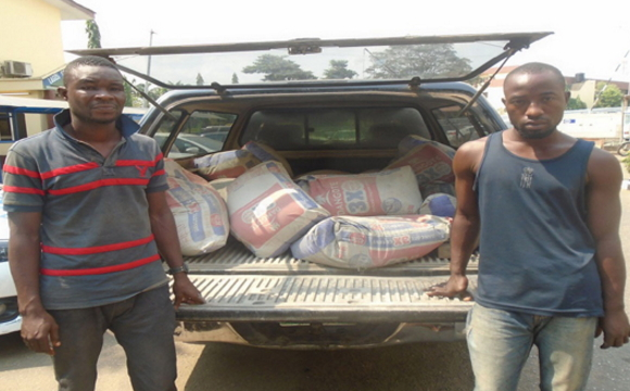 supervisor steals 20 bags of cement