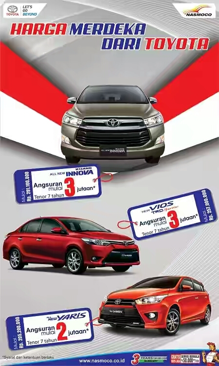 Promo Toyota Cilacap, Jawa Tengah