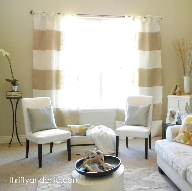 DIY BULAP窗帘
