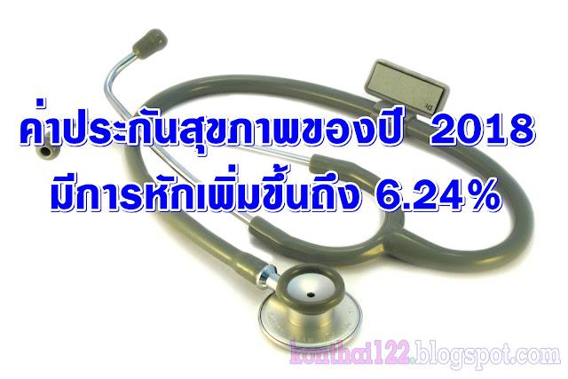 ค่าประกันสุขภาพของปี ค.ศ 2018