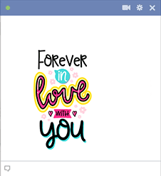 Forever Love You - Facebook Sticker