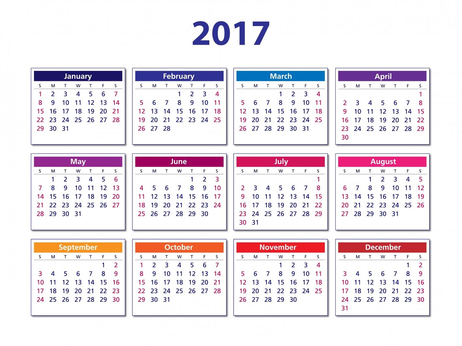 Printable annual calendar for 2017 - simple design to print. month calendar 2017 template calendar 2017 template background calendar 2017 templates photos