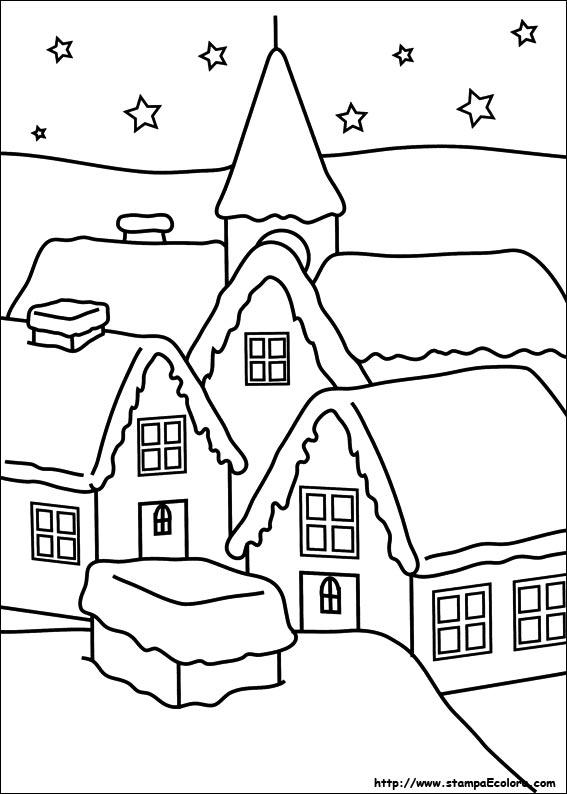 Disegni Natalizi Da Colorare Per Bambini Donneinpink Magazine