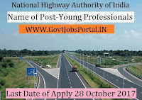 National Highways Authority of India Recruitment 2017- 170 Young Professionals