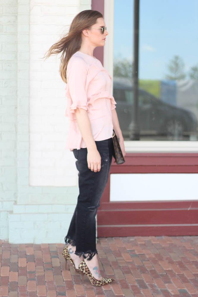 Frayed Hem Jeans-Street Style