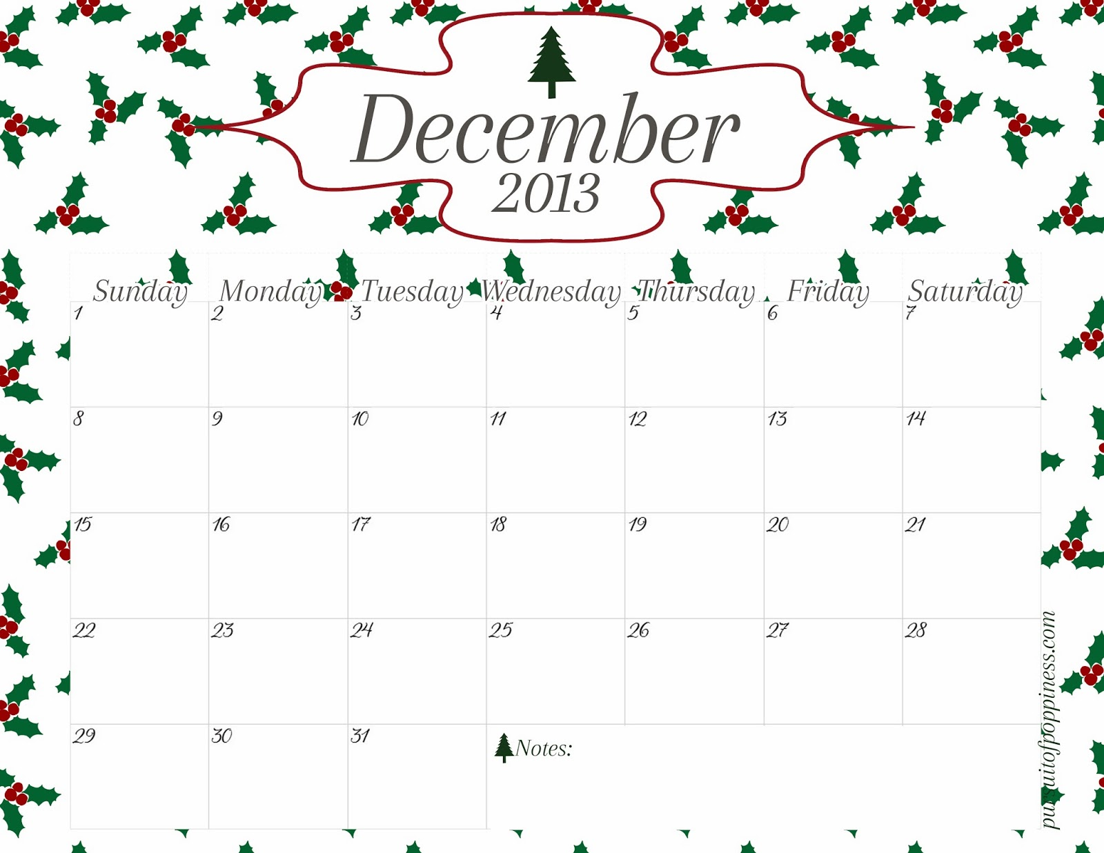 Download Printable And Templates December Calendar With Holidays Images
