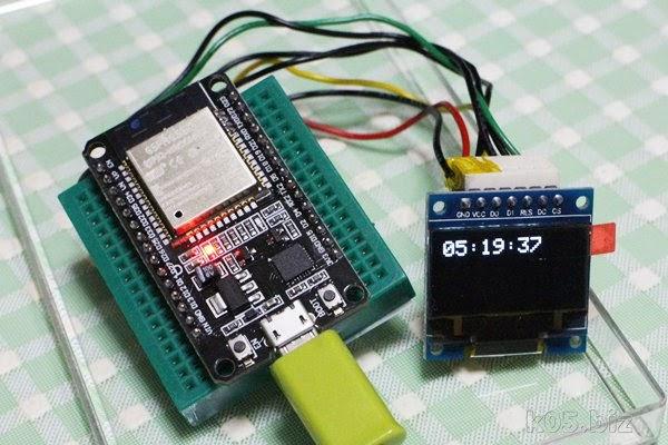 ESP32】時計表示、ntpによる時刻合わせ – お部屋でモバイル