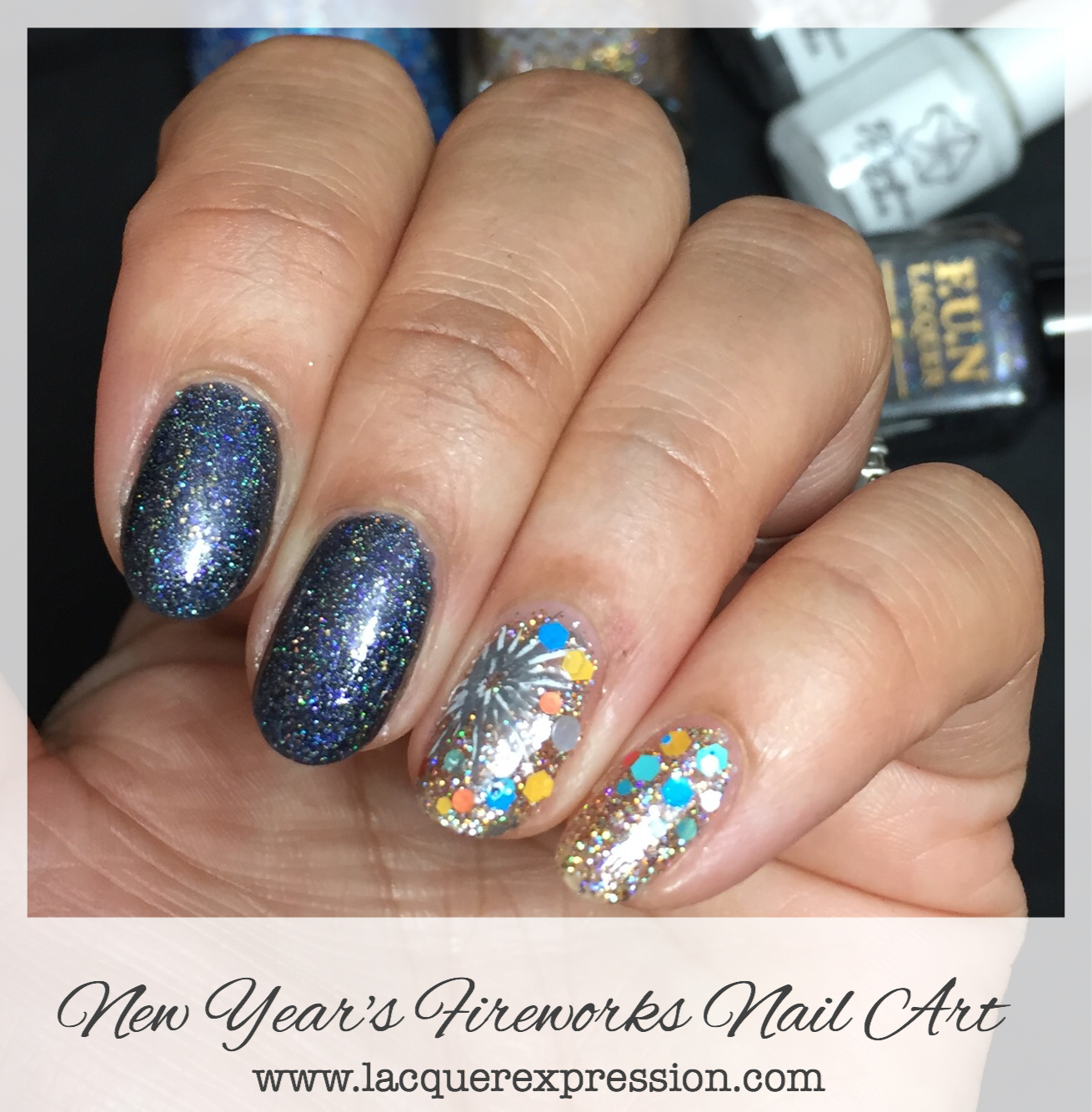 Step By Step Nail Art Thursday New Years Fireworks Nail Manicure