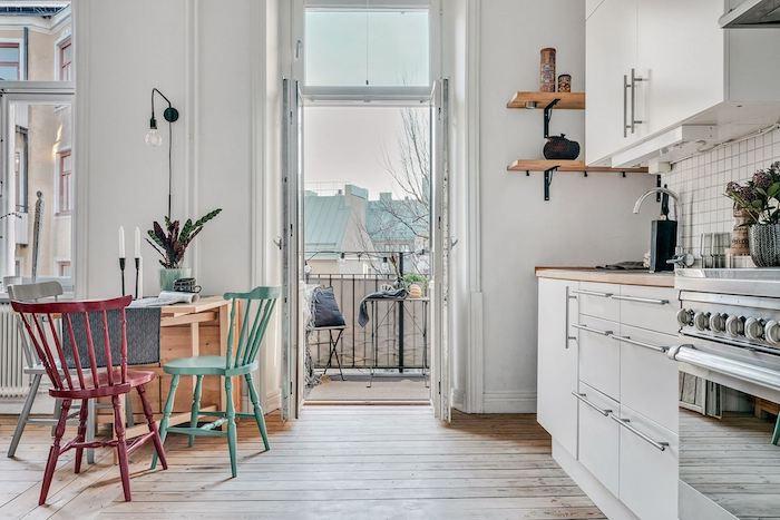 Como dar un aspecto juvenil y romántico a un apartamento antiguo, cocina