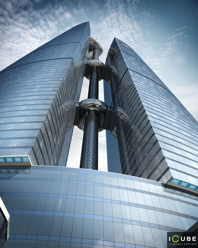 Rendering of the Federation tower looking up
