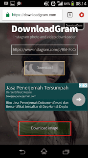 cara mudah download foto di instagram
