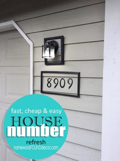 by the numbers house number refresh homewardfounddecor