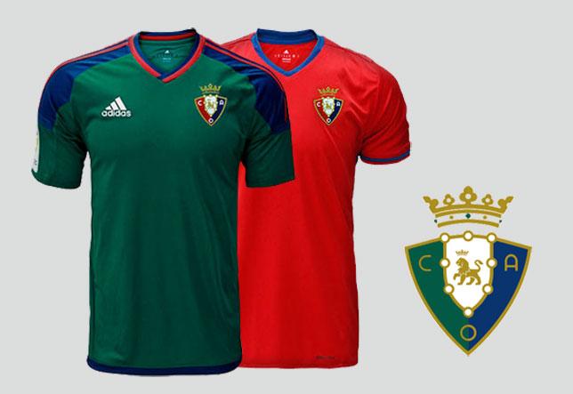 Primera y segunda indumentaria del Club Atlético Osasuna