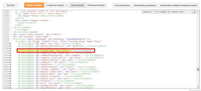 Cara Membuat Breadrumbs agar tidak terindex Google di Web Blog