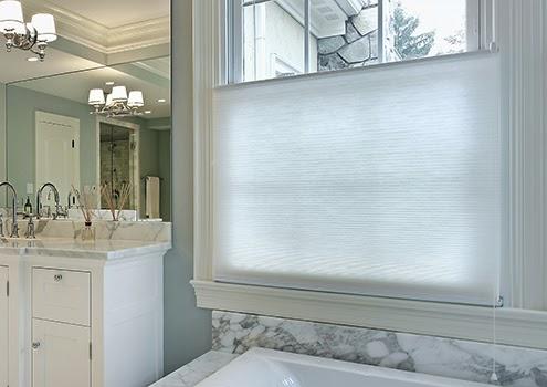風琴簾(蜂巢簾)|浴室內上下分離式風琴簾(蜂巢簾)