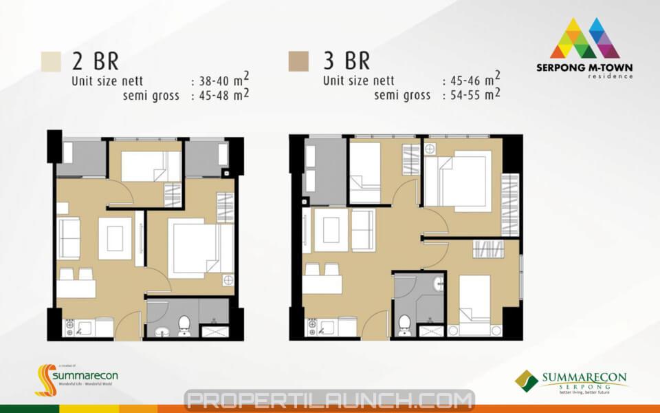 Apartemen Serpong M-Town Residence Tipe 2 BR & 3 BR