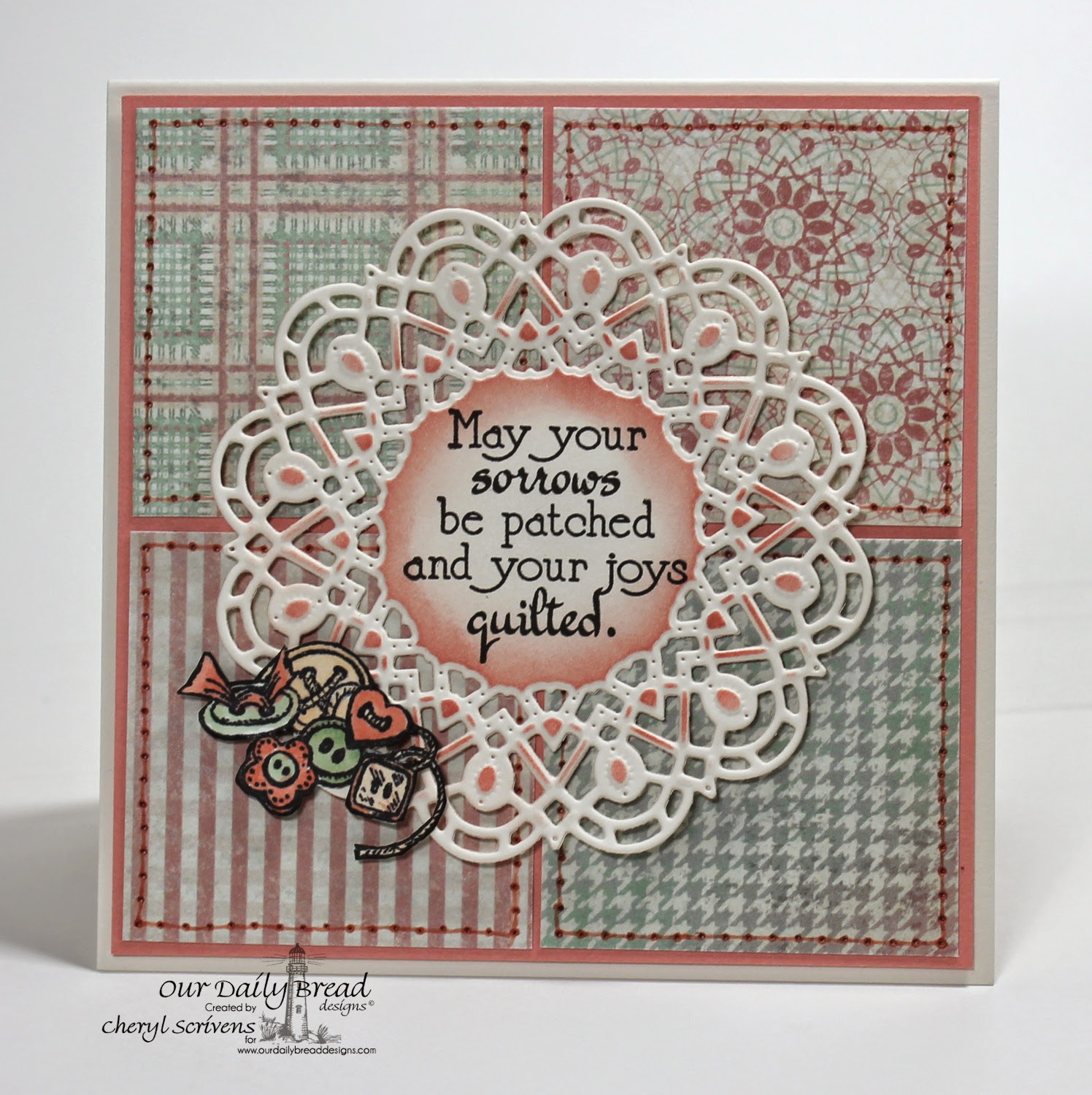 Our Daily Bread Designs, ODBDSLC213, Quilts, Doily Dies, ODBD Soulful Stitches Collection paper pad, CherylQuilts, Designed by Cheryl Scrivens