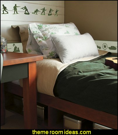 toy soldiers wall decal stickers  Army Theme bedrooms - Military bedrooms camouflage decorating  - Army Room Decor - Marines decor boys army rooms - Airforce Rooms - camo themed rooms - Uncle Sam Military home decor - military aircraft bedroom decorating ideas - boys army bedroom ideas - Military Soldier - Navy themed decorating