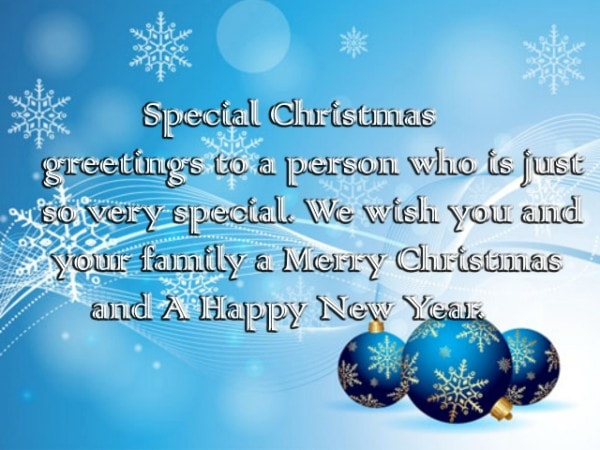 Merry Christmas Greetings 2017 for Special Friend