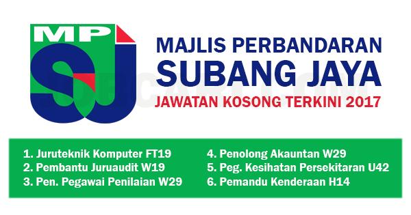 Jawatan Kosong Di Majlis Perbandaran Subang Jaya Mpsj Pelbagai Jawatan Gred Jobcari Com Jawatan Kosong Terkini