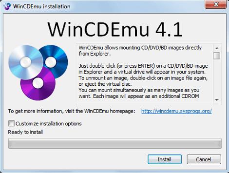 برنامج فتح وتشغيل ملفات الايزو على الكمبيوتر WinCDEmu