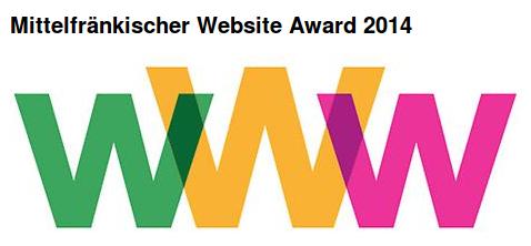 Das Logo des mittelfränkischen Website-Awards 2014