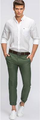 Yeşil pantolon kombini