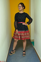 Aditi Myakal in Spicy Red Short Skirt and Transparent Black Top at at Big FM For Promotion of Movie Ami Tumi 083.JPG