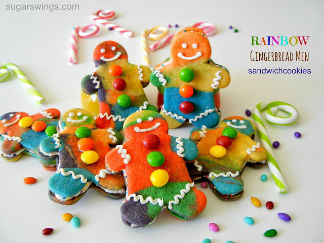 Rainbow Gingerbread Men Cookies