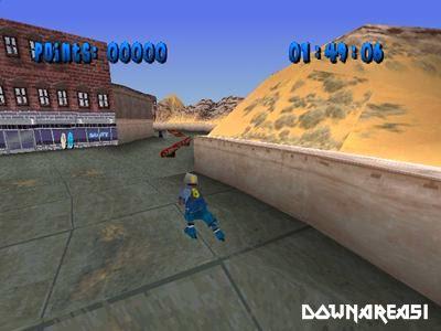 D Environments spell performing tight tricks similar dorsum flip X Bladez Inline Skater PS1 ISO