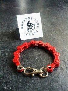 Pulsera con cadena de bicicleta