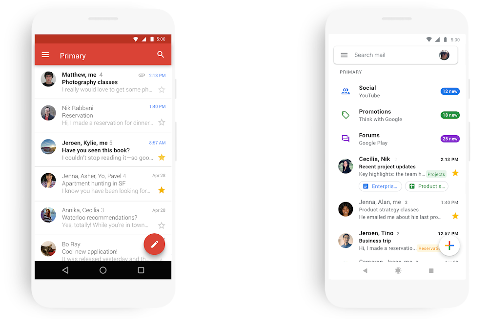 Gmail应用程序新界面