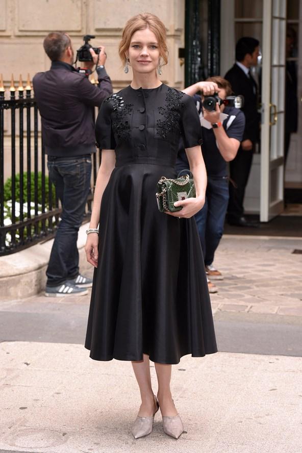 Street Style + Dior + Natalia Vodianova + PFW