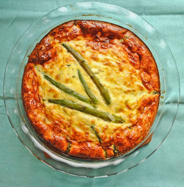 Asparagus, Ham, and Cheese Frittata - NeighborFood