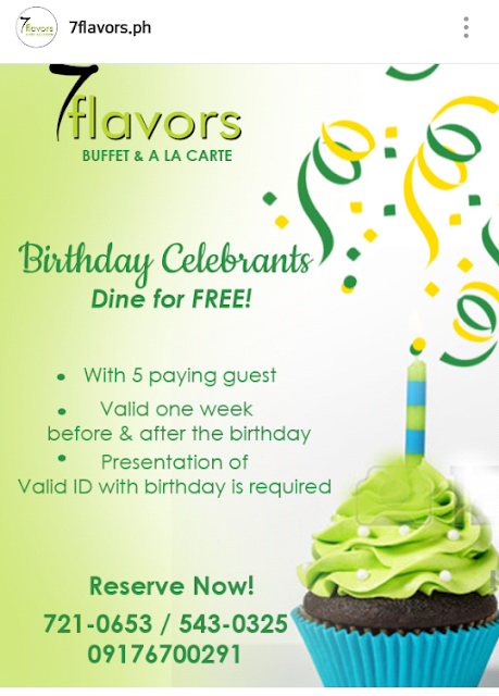 7 flavours, birthday promo,