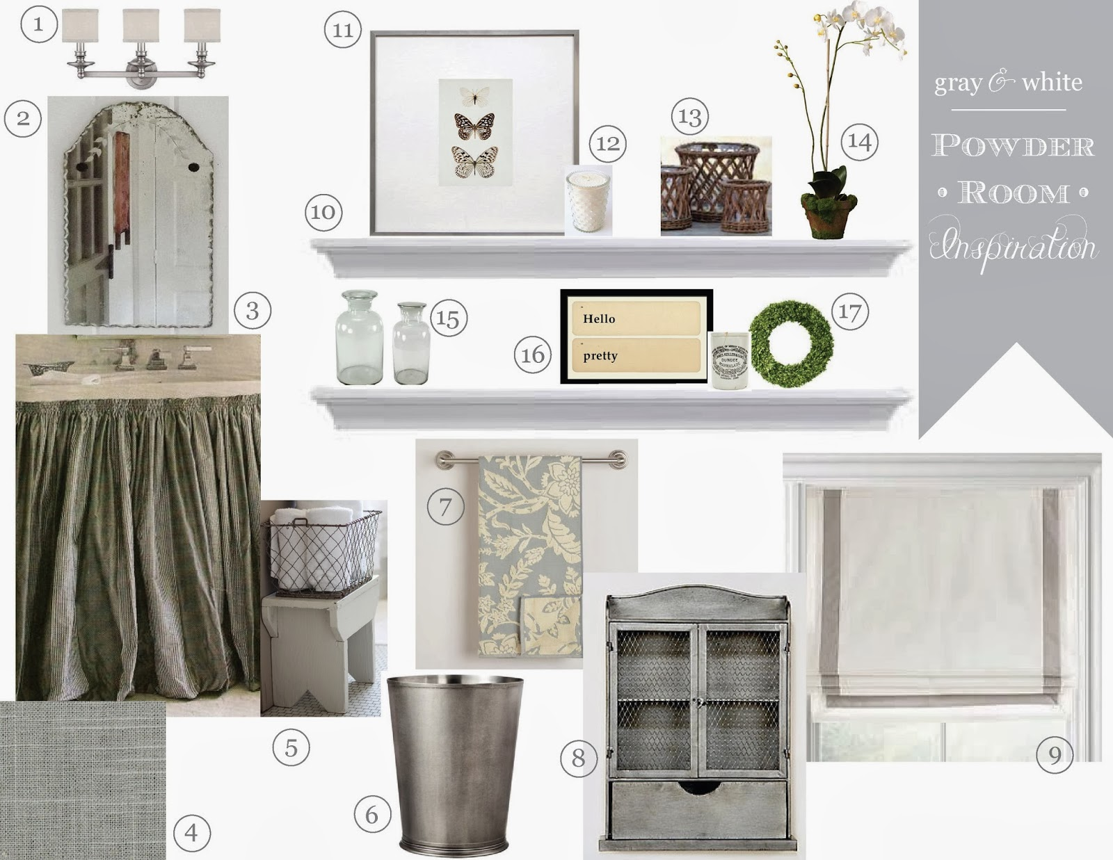 12th And White Powder Room Inspiration