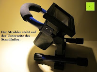 stehen: as - Schwabe Chip-LED-Akku-Strahler 10 W, geeignet für Außenbereich, Gewerbe, blau, 46971