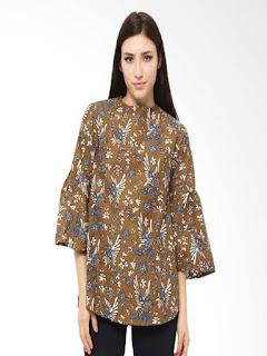 model baju batik atasan sabrina