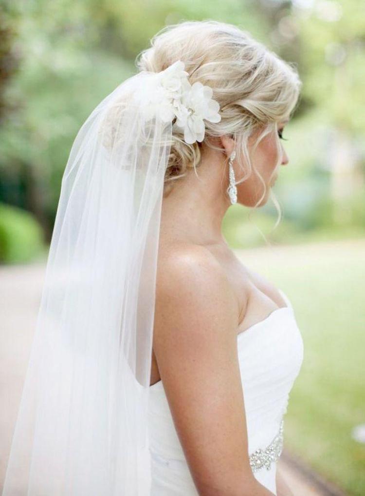 Brautfrisuren mit schleier  Frisuren Trend 123