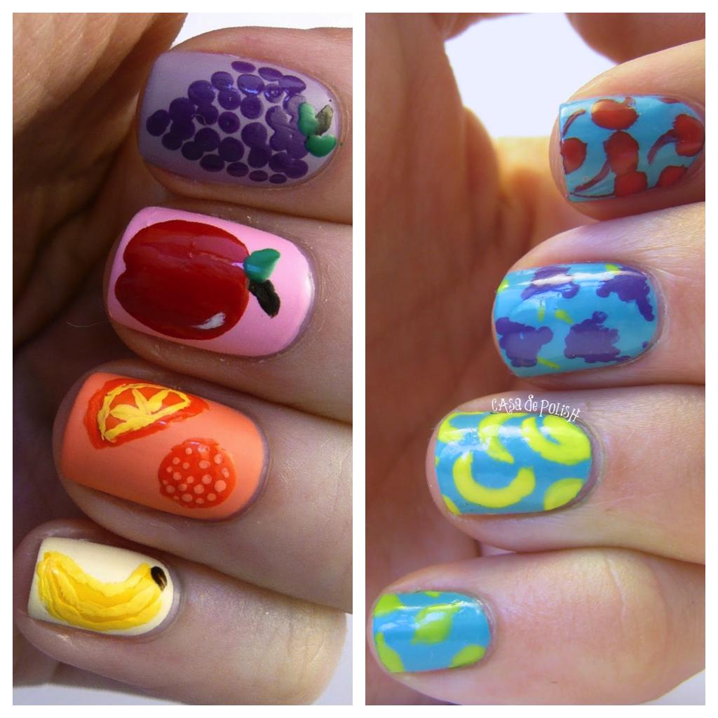 Casa de Polish: Nail Art Nail-Off: Fruit Nails