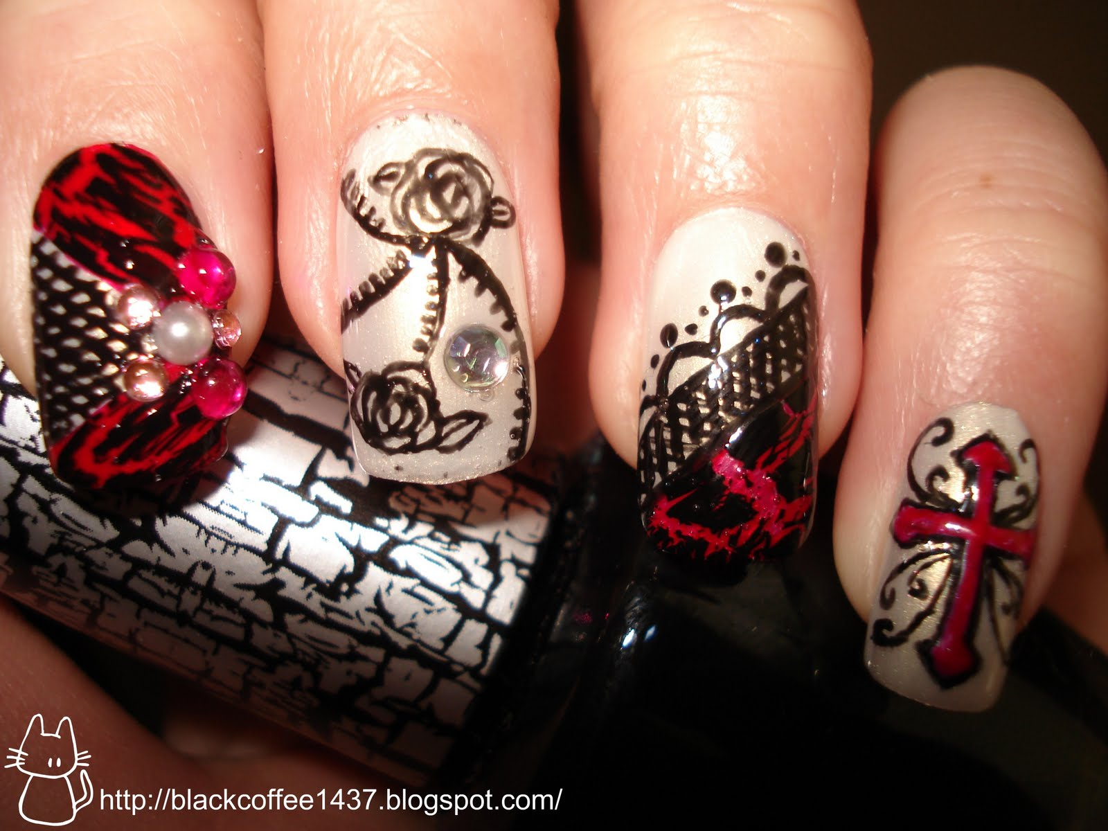 Great gothic nails gallery prinsesfo Choice Image