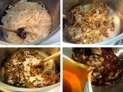 Các bước để bạn làm caramel hành tây, có thể ứng dụng cho nhiều món ăn khác