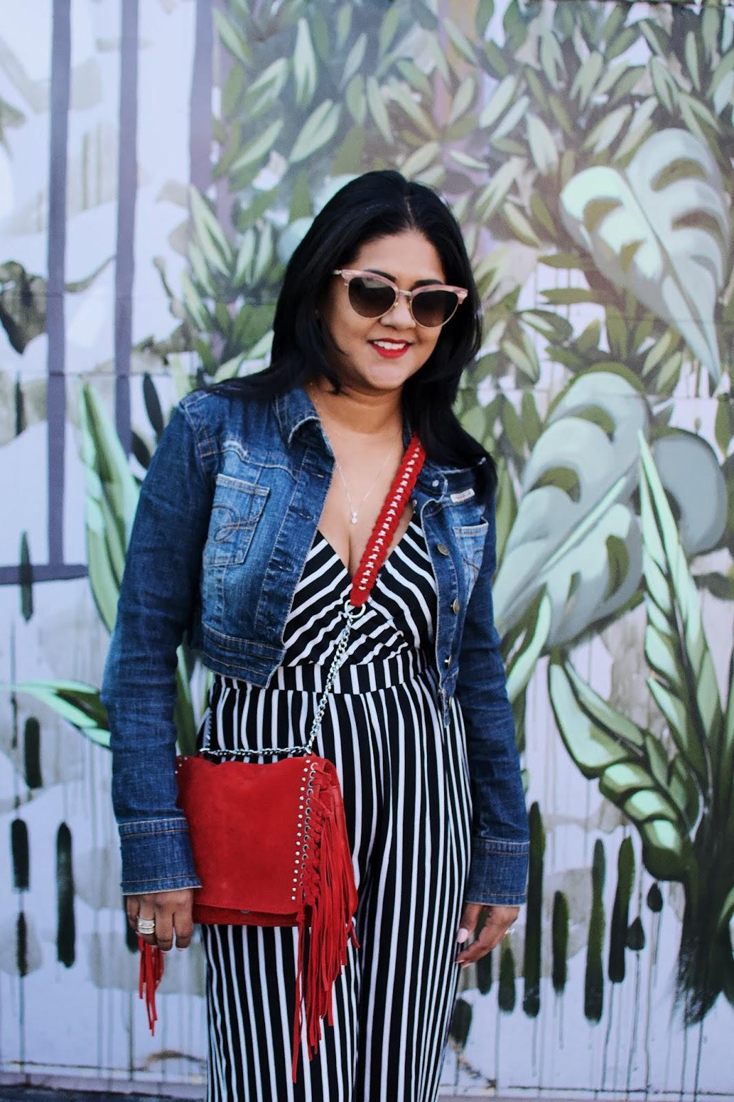Wynwood walls, black and white jumpsuit, zara purse