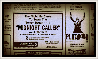 "Ad for the theatrical re-issue of Percival Rubens' THE DEMON (1981) aka ""Midnight Caller"""